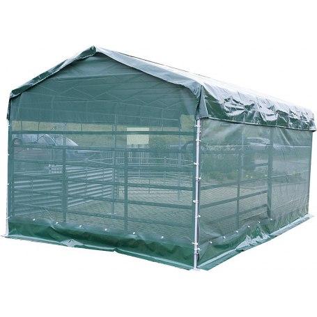 Windschutznetz für Mobile Box mit Überdachung 6 x 3,6 m Seitenteil L  6 m