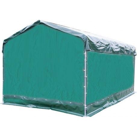 Wetterschutzplane für Mobile Box mit Überdachung 6 x 3,6 m, Seitenteil L  6 m
