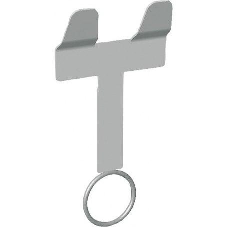 Nuckeleimerhalter mit Ring und Gegenplatte