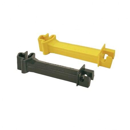 Abstands-Isolator für T-Pfosten schwarz und gelb, 173625, 173725
