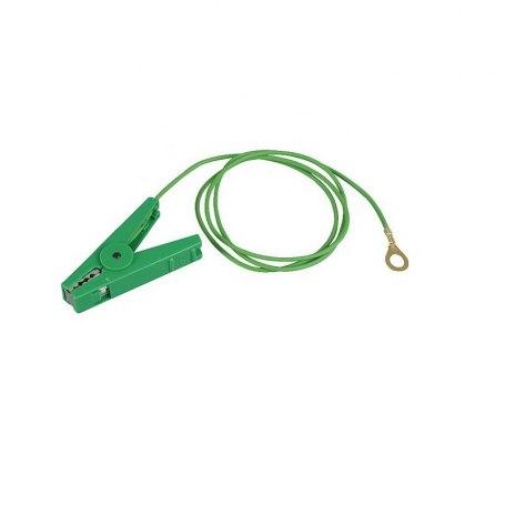 Erdanschlußkabel, grün, Edelstahl-Klemme und 8 mm Ringöse