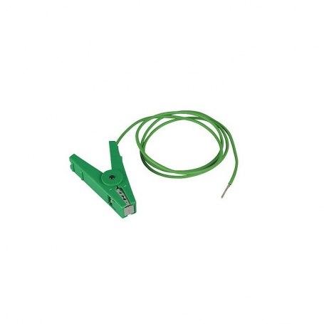 Erdanschlußkabel, grün, Edelstahl-Klemme und 3 mm Stift