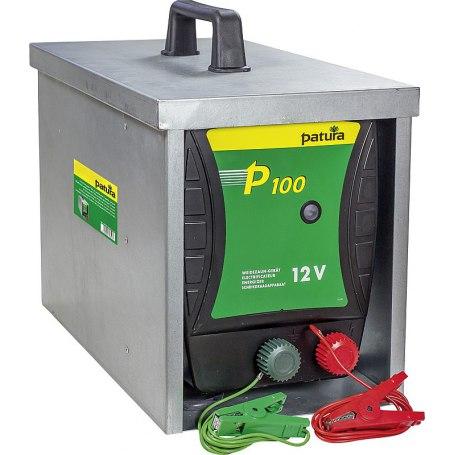 100, Weidezaun-Gerät für 12 Volt Akku mit geschlossener Tragebox Compact
