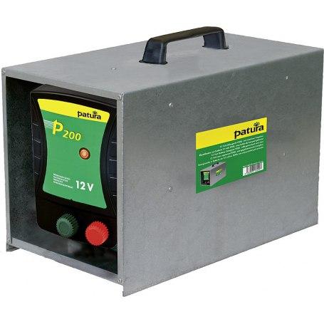 P200, Weidezaun-Gerät für 12 Volt Akku mit Tragebox