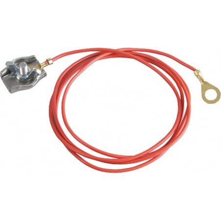 Zaunanschlußkabel Seil, mit Edelstahl-Seilklemme