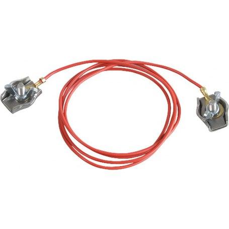 Zaunverbindungskabel Seil, mit 2 Edelstahl-Seilklemmen